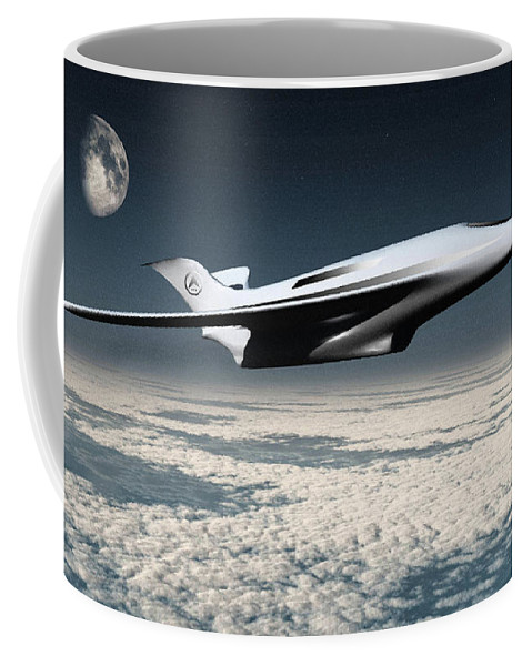 Space Coffee Mug featuring the digital art Space Transport by Richard Rizzo