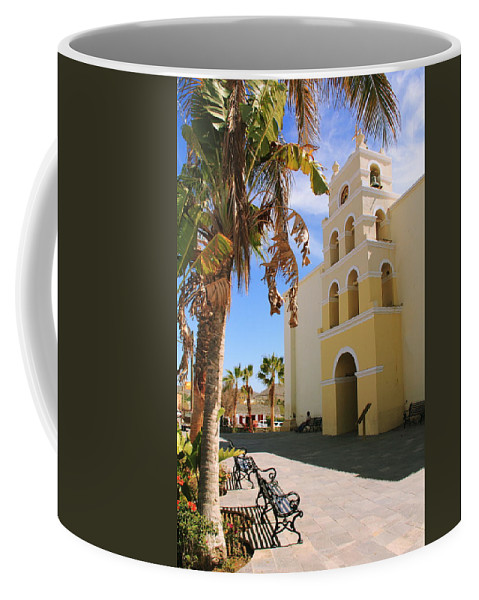 Spanish Mission Coffee Mug featuring the photograph Spanish Mission In Todos Santos by Roupen Baker