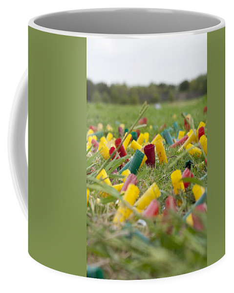 Shotgun Shells Coffee Mug featuring the photograph Spent by Greg Kopriva