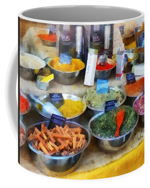 Cinnamon Coffee Mug featuring the photograph Spice Stand by Susan Savad