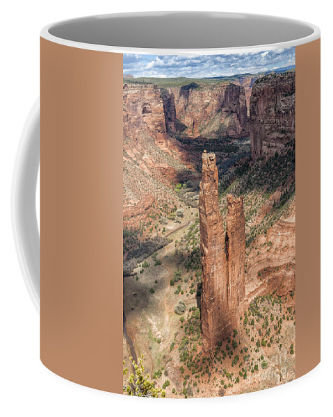 Southwest Coffee Mug featuring the photograph Spider Rock - Canyon De Chelly by Sandra Bronstein