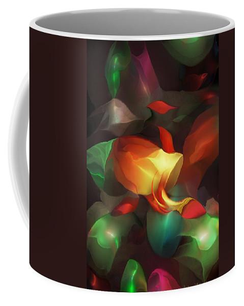 Fine Art Coffee Mug featuring the digital art Spilled by David Lane
