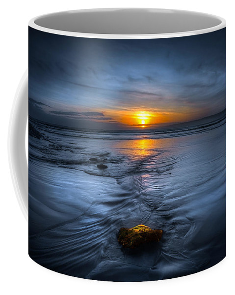 Bay Coffee Mug featuring the photograph Spine Wave by Svetlana Sewell