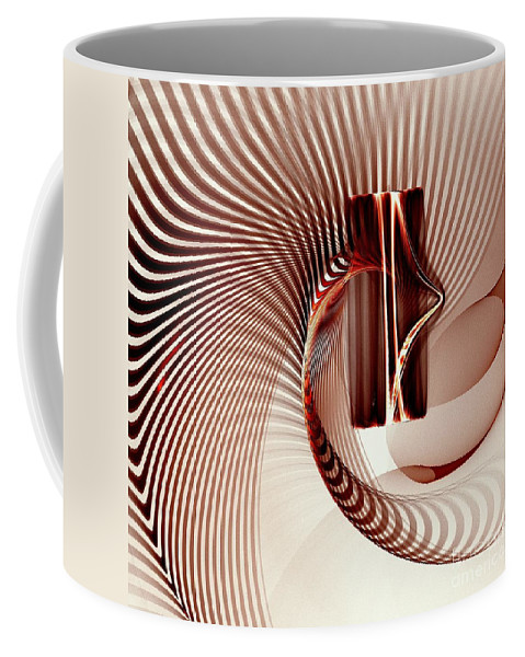Spiral Coffee Mug featuring the digital art Spiral-2 by Klara Acel