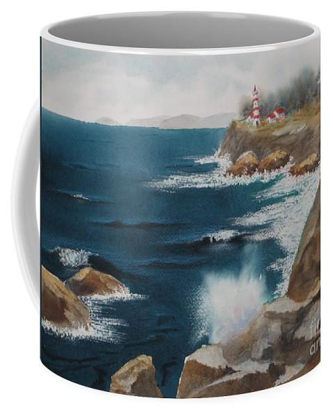 Coffee Mug featuring the painting Splash by Mohamed Hirji