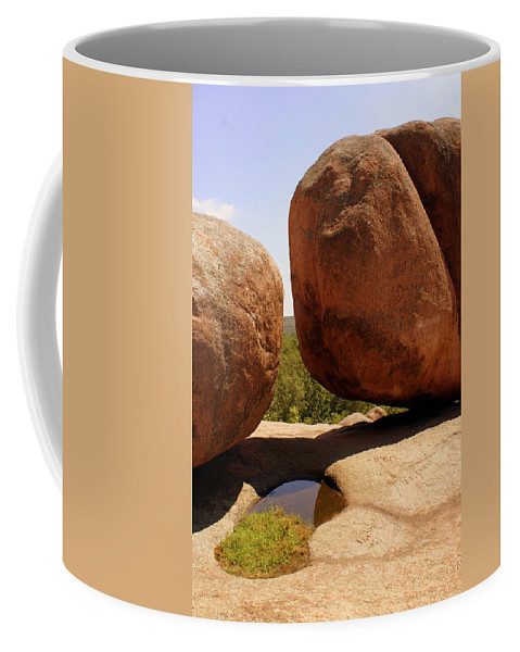 Rocks Coffee Mug featuring the photograph Split Bouuder by Marty Koch