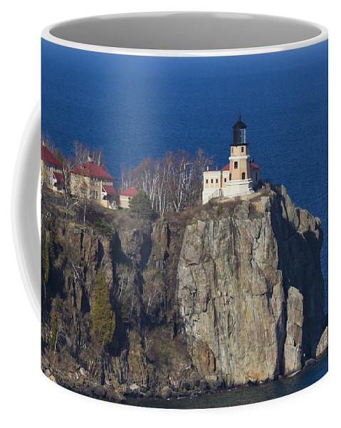 Split Coffee Mug featuring the photograph Split Rock Lighthouse 76 by John Brueske