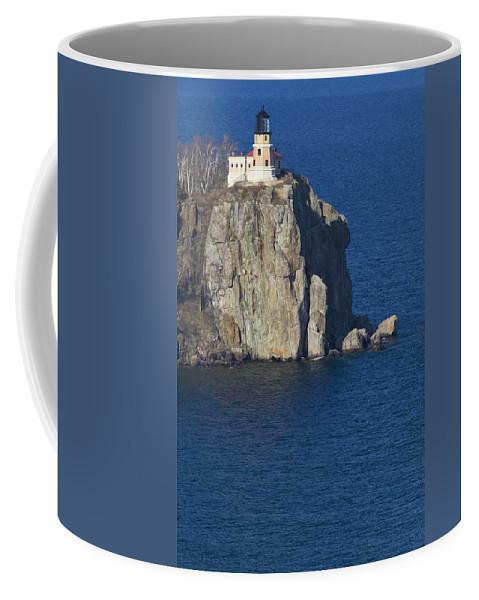 Split Coffee Mug featuring the photograph Split Rock Lighthouse 77 by John Brueske
