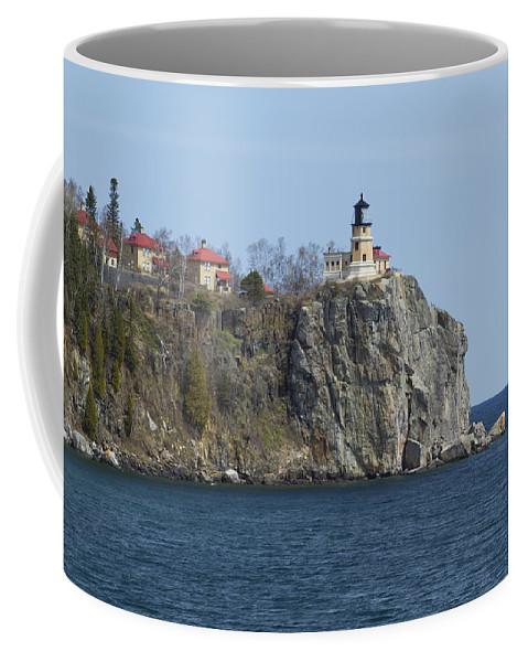 Split Coffee Mug featuring the photograph Split Rock Lighthouse 83 by John Brueske