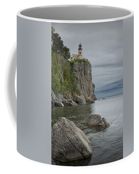 Art Coffee Mug featuring the photograph Split Rock Lighthouse In Northern Minnesota by Randall Nyhof