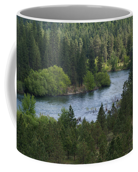 Spokane River Coffee Mug featuring the photograph Spokane River Scene 2 by Ben Upham III