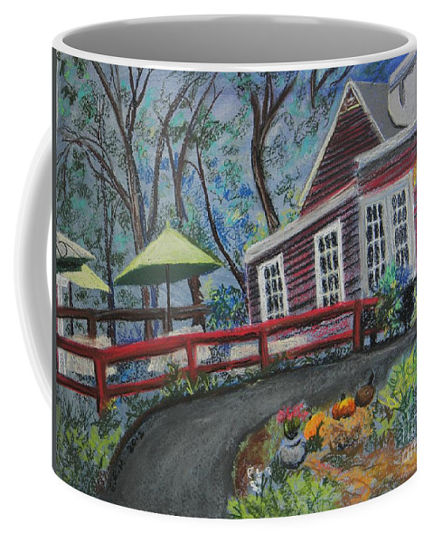 Quaint Country Scene Coffee Mug featuring the pastel Sprigs by Emily Michaud