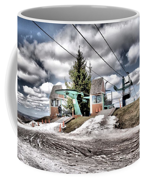 Skiing Coffee Mug featuring the photograph Spring Mud Skiing by Adam Jewell