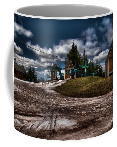 Spring Skiing Coffee Mug featuring the photograph Spring Skiing by Adam Jewell