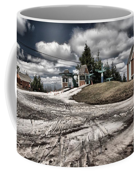 Skiing Coffee Mug featuring the photograph Springing Forward by Adam Jewell