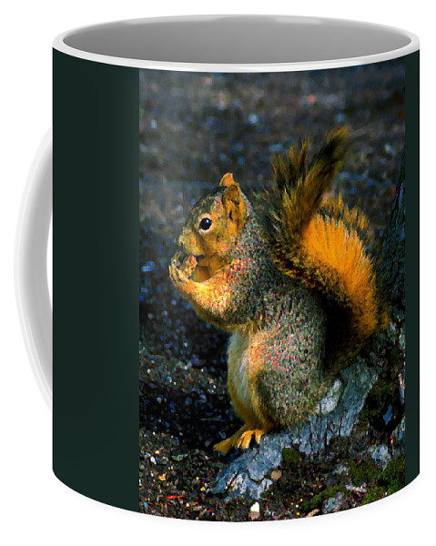 Squirrel Coffee Mug featuring the photograph Squirrel At Riverfront Park by Ben Upham III