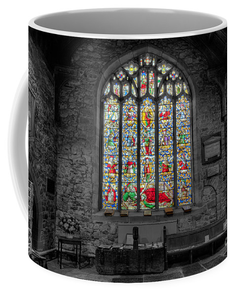 Architecture Coffee Mug featuring the photograph St Dyfnog Window by Adrian Evans