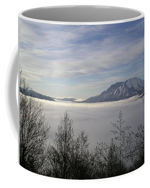Mt St Helens Coffee Mug featuring the photograph St Helens Above Clouds by Catherine Helmick