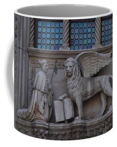 St. Marco And The Lion Coffee Mug featuring the photograph St. Marco And The Lion by Bill Cannon