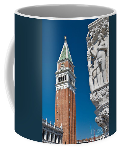 Rowing Coffee Mug featuring the photograph St Marks Tower by Jim Chamberlain
