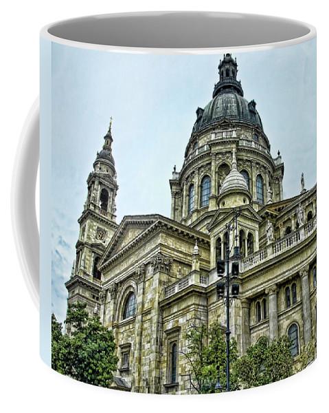 Budapest Coffee Mug featuring the photograph St Stephen Basilica  Budapest by Jon Berghoff