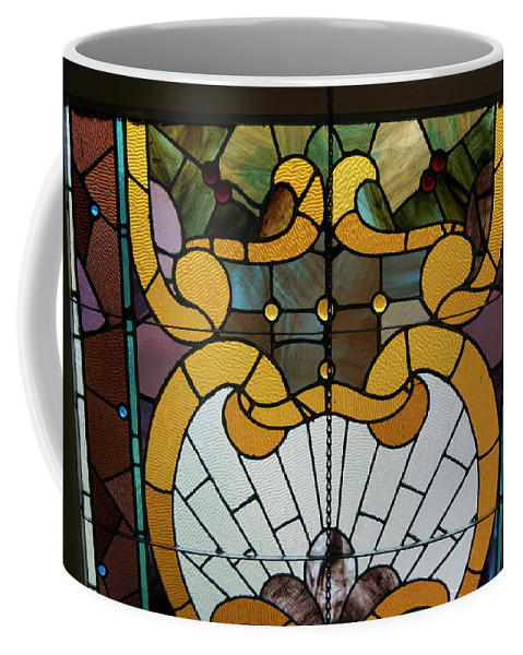Glass Art Coffee Mug featuring the photograph Stained Glass Lc 01 by Thomas Woolworth