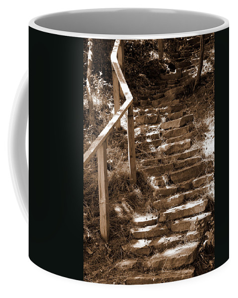 Stairs Coffee Mug featuring the photograph Stairway To Heaven by Trish Tritz