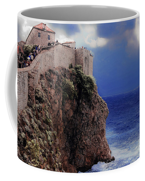 Dubrovnik Coffee Mug featuring the photograph Standing At The Edge Of Time by Madeline Ellis