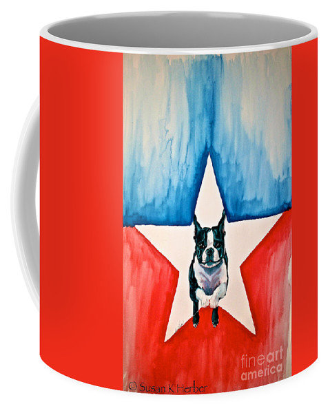 Mammal Coffee Mug featuring the painting Star Appeal by Susan Herber