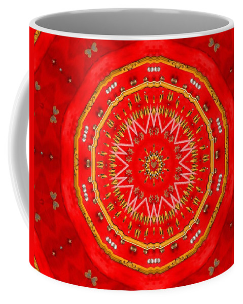 Stars Coffee Mug featuring the mixed media Star Cookie Art by Pepita Selles