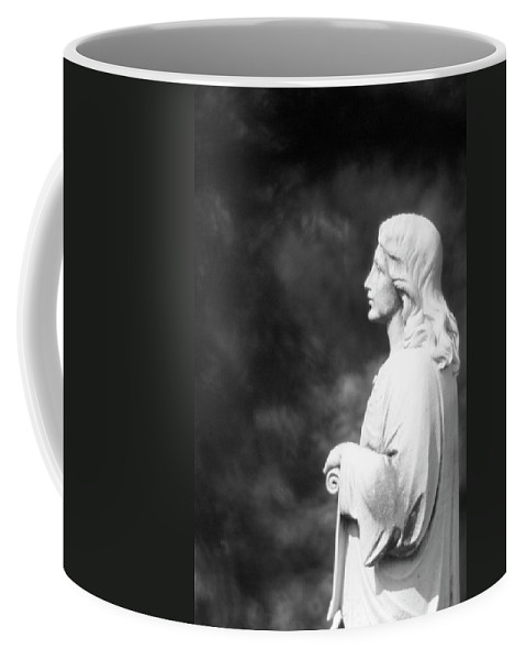 Statue Coffee Mug featuring the photograph Statue 06 Black And White by Thomas Woolworth