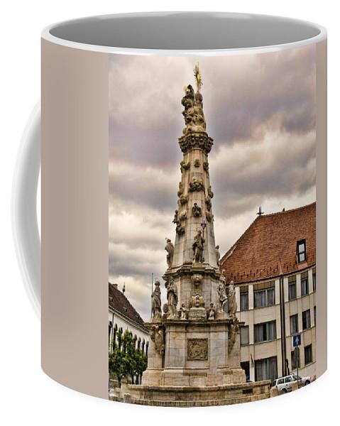 Matthias Church Coffee Mug featuring the photograph Statue At St Matthias Church by Jon Berghoff