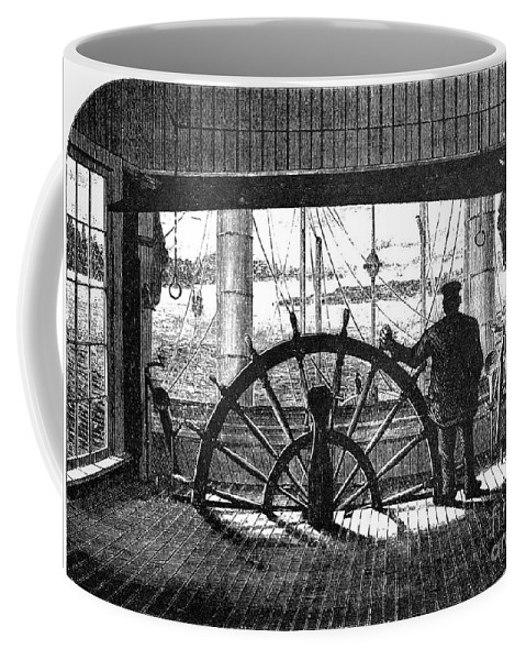1875 Coffee Mug featuring the photograph Steamboat: Great Republic by Granger
