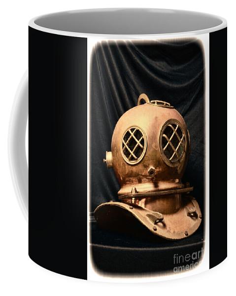 Paul Ward Coffee Mug featuring the photograph Steampunk - Diving - Diving Helmet by Paul Ward