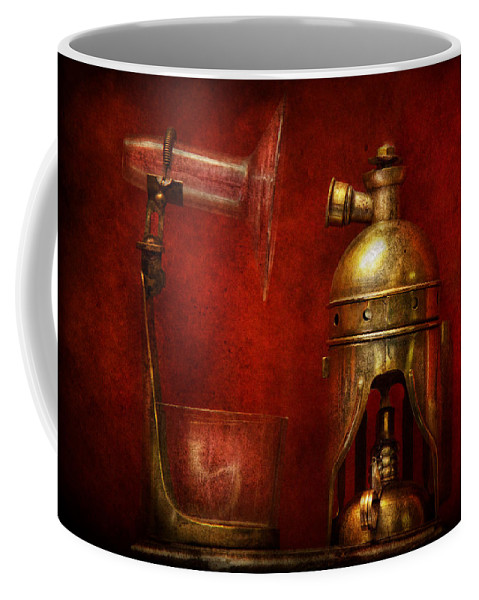 Torch Coffee Mug featuring the photograph Steampunk - The Torch by Mike Savad