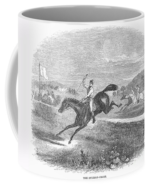 1880 Coffee Mug featuring the photograph Steeplechase, C1880 by Granger