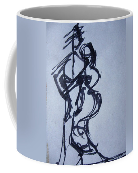 Dancers Coffee Mug featuring the drawing Stepping Out by Diane montana Jansson
