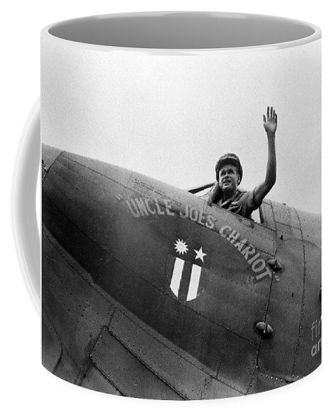 1943 Coffee Mug featuring the photograph Stilwell - Plane C1943 by Granger