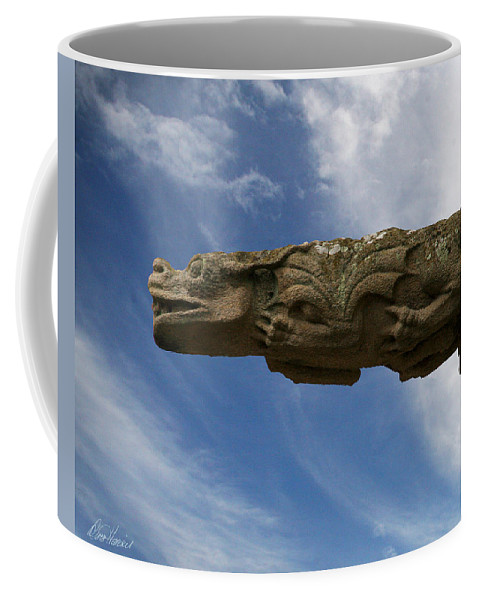 Stone Coffee Mug featuring the photograph Stone Dragon by Diana Haronis