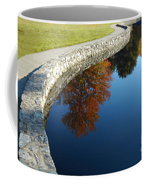 Autumn Coffee Mug featuring the photograph Stonewall And Autumn Reflections by Mike Nellums