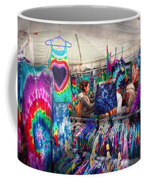 Dye Coffee Mug featuring the photograph Storefront - Tie Dye Is Back by Mike Savad