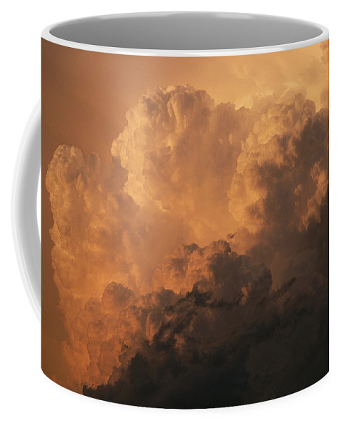 Sky Coffee Mug featuring the photograph Storm Clouds Gather Over The Badlands by Annie Griffiths