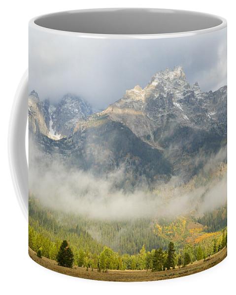 Grand Teton Coffee Mug featuring the photograph Storm On Grand Teton by Sandra Bronstein