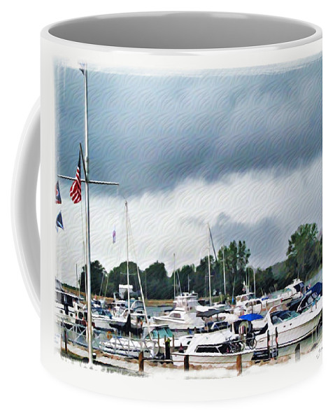 Erie Coffee Mug featuring the photograph Storm Over Lake Erie by Joan Minchak