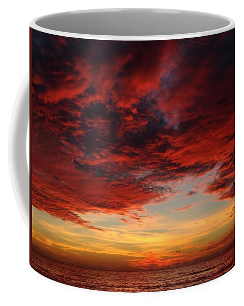 Sunset Coffee Mug featuring the photograph Storm Sunset - Miami, Florida by Ian Mcadie
