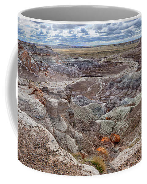 Southwest Coffee Mug featuring the photograph Stormy Morning At Petrified Forest by Sandra Bronstein