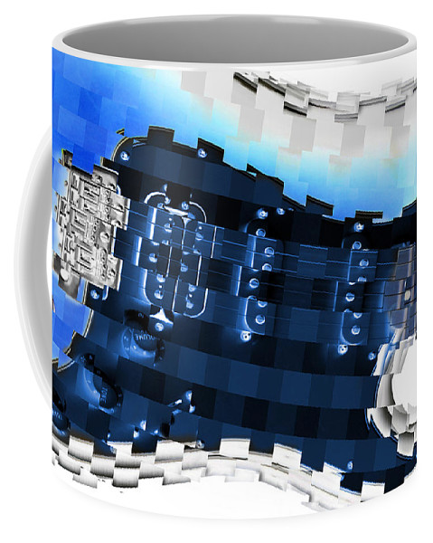 Abstract Guitar Coffee Mug featuring the photograph Abstract Guitar In Blue by Mike McGlothlen