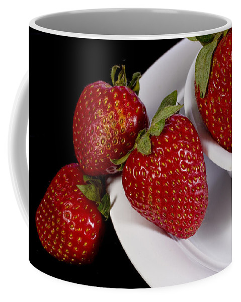 Art Coffee Mug featuring the photograph Strawberry Arrangement With A White Bowl No.0036 by Randall Nyhof
