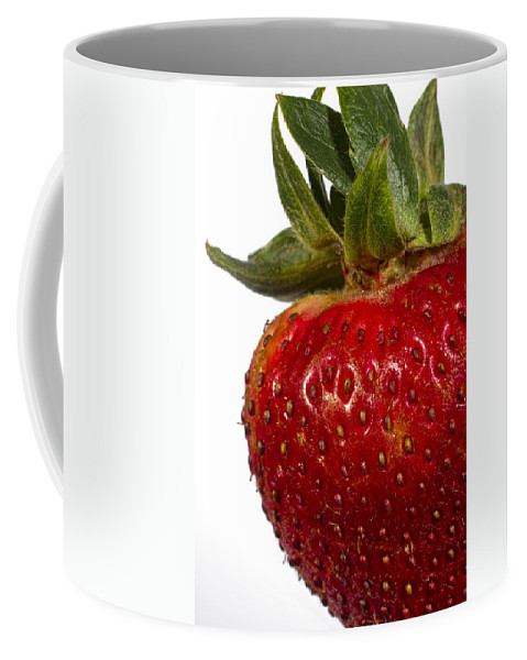 Art Coffee Mug featuring the photograph Strawberry Close Up No.0011 by Randall Nyhof