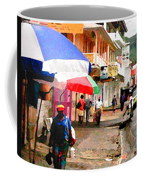 Rosea Coffee Mug featuring the photograph Street Scene In Rosea Dominica Filtered by Duane McCullough